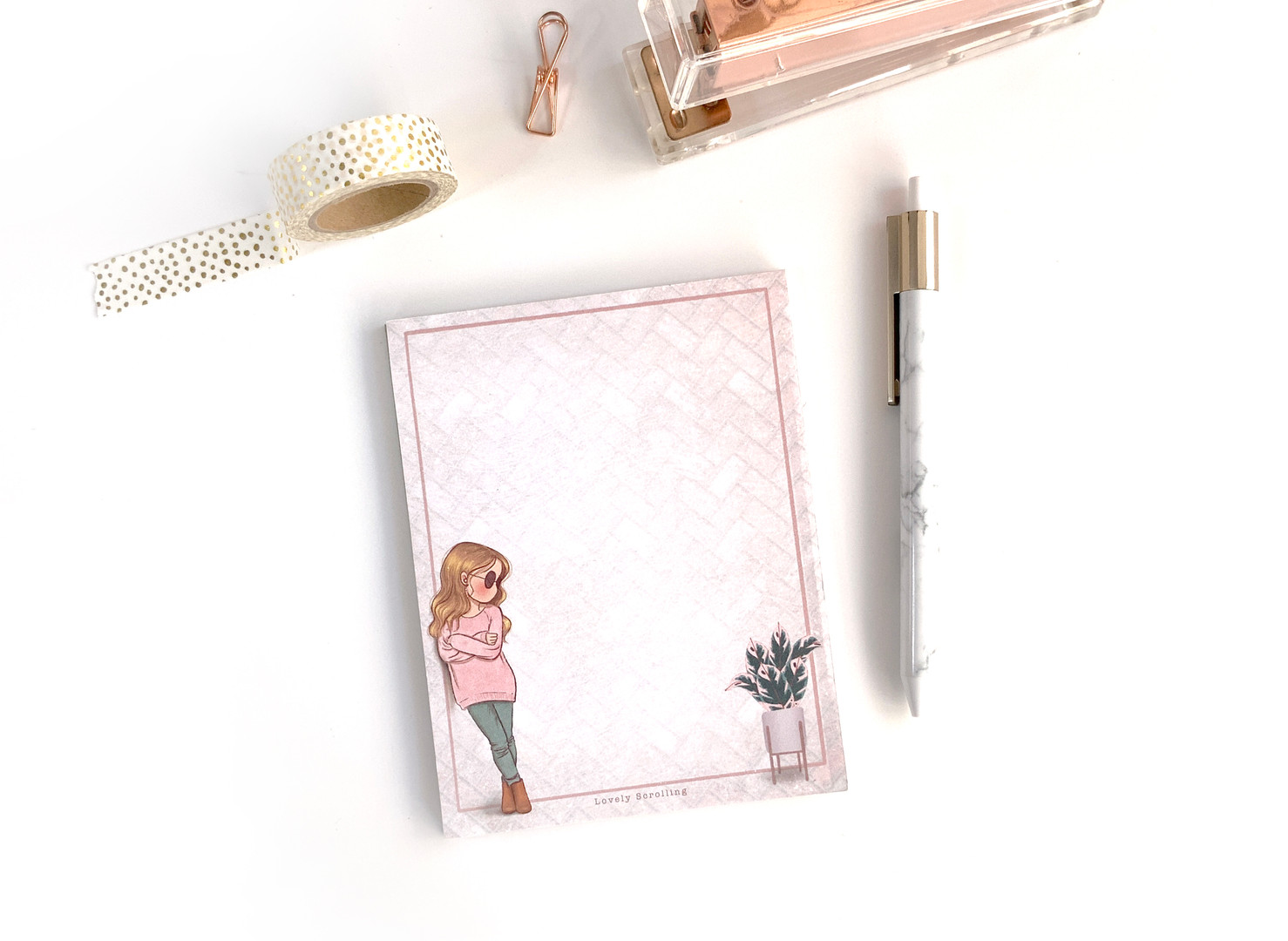 Miss Lily Shades mini notepad