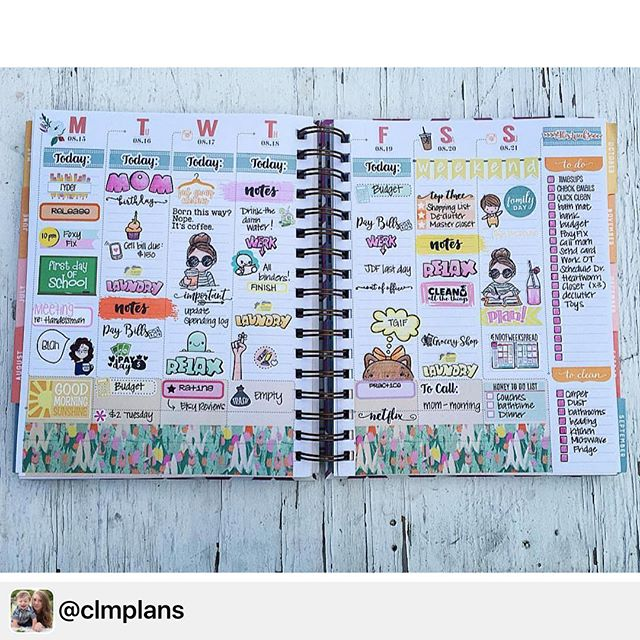 Loving this spread from _clmplans featuring Miss Lily Shades around! 😍👍🏻 thanks for sharing!