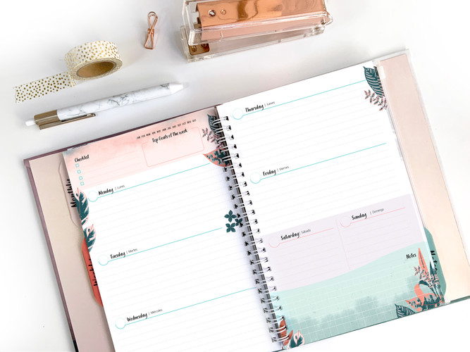 Planner weekly pages