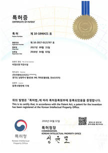 Non-point pollution reduction facility patent certificate