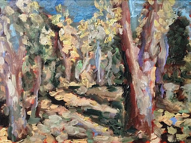 fall oil painting bismarck north dakota