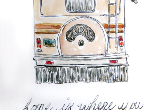 Custom RV & Camper paintings now for sale! Also, custom pickle and jam paintings!
