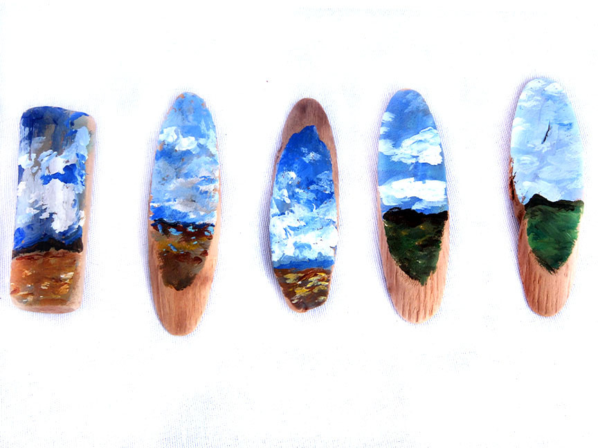 small driftwood painting