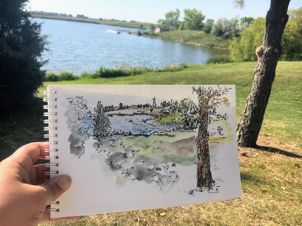 Garden Walk Sketch