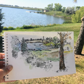 Sketching from life- outside!