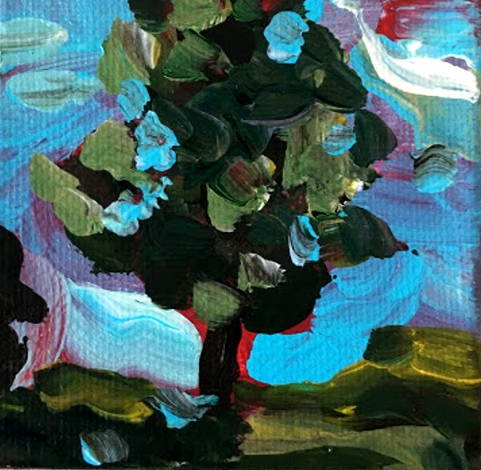 tiny tree painting