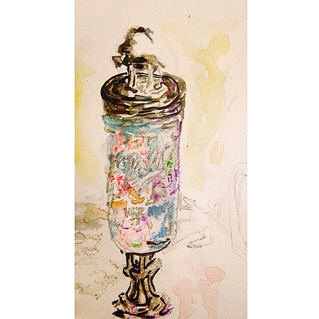 candy jar watercolor