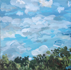 acrylic skyscape nature painting
