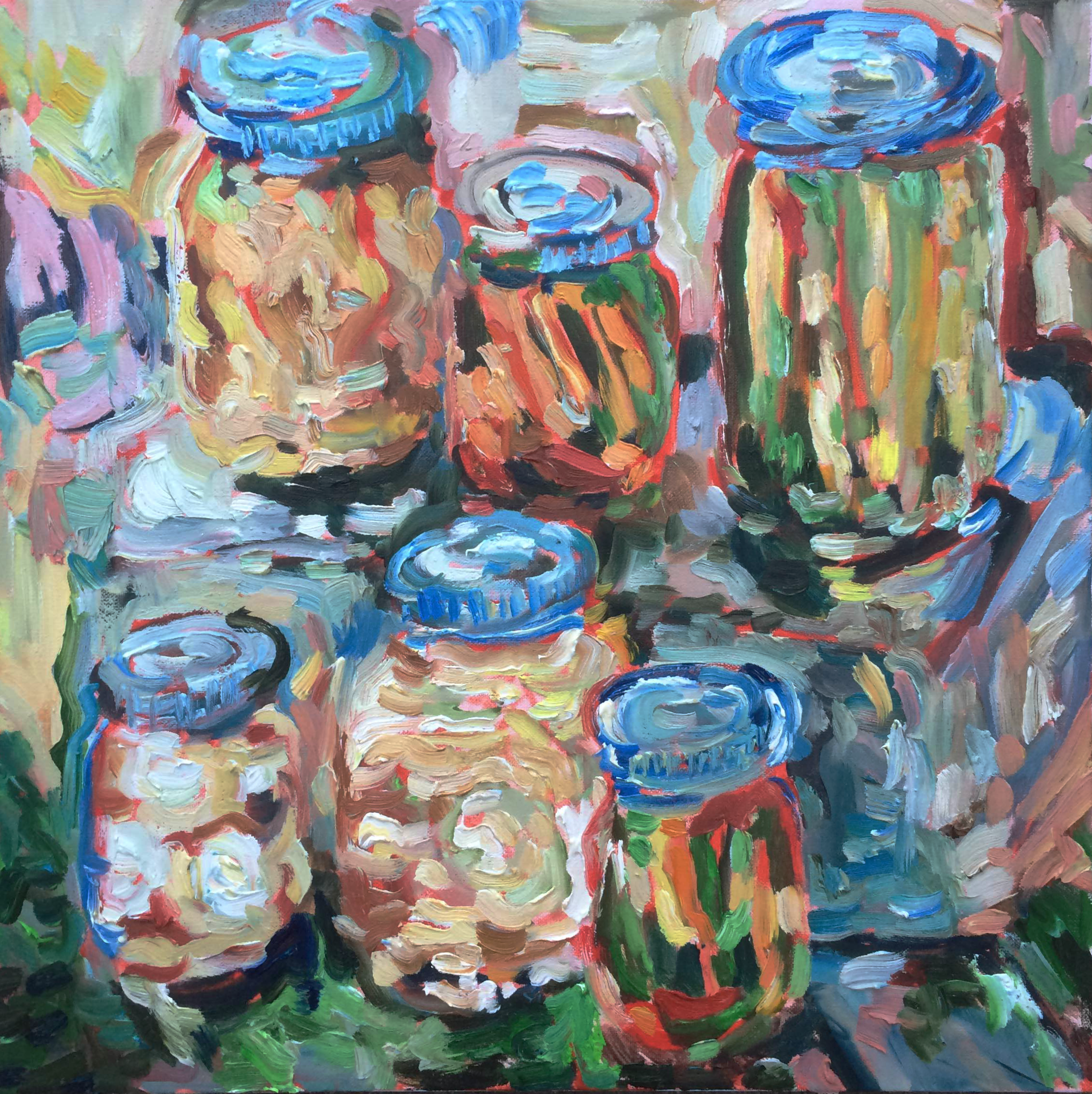 still life pickle painting oil