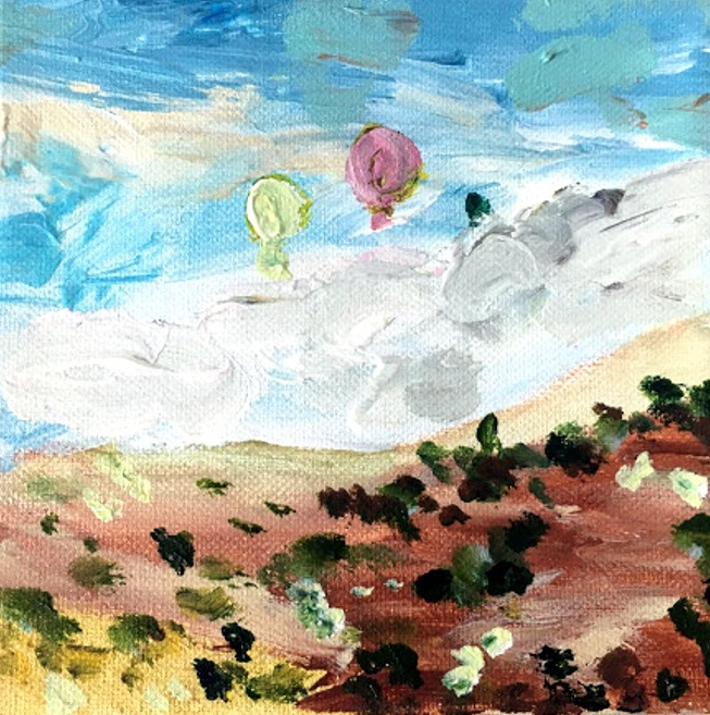 balloons acrylic painting