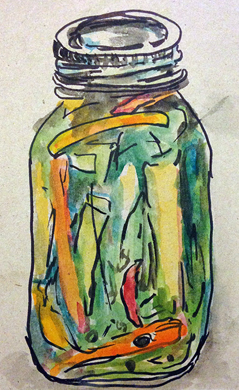 mixed media pickle art