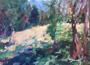 plein air painting in the park, nicole gagner