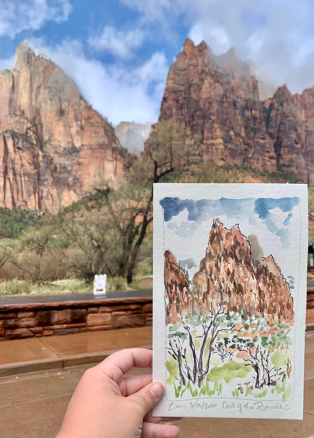 zion nat'l park sketch