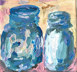 blue jar painting