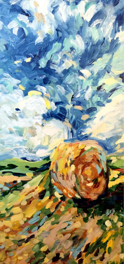 large haybale painting
