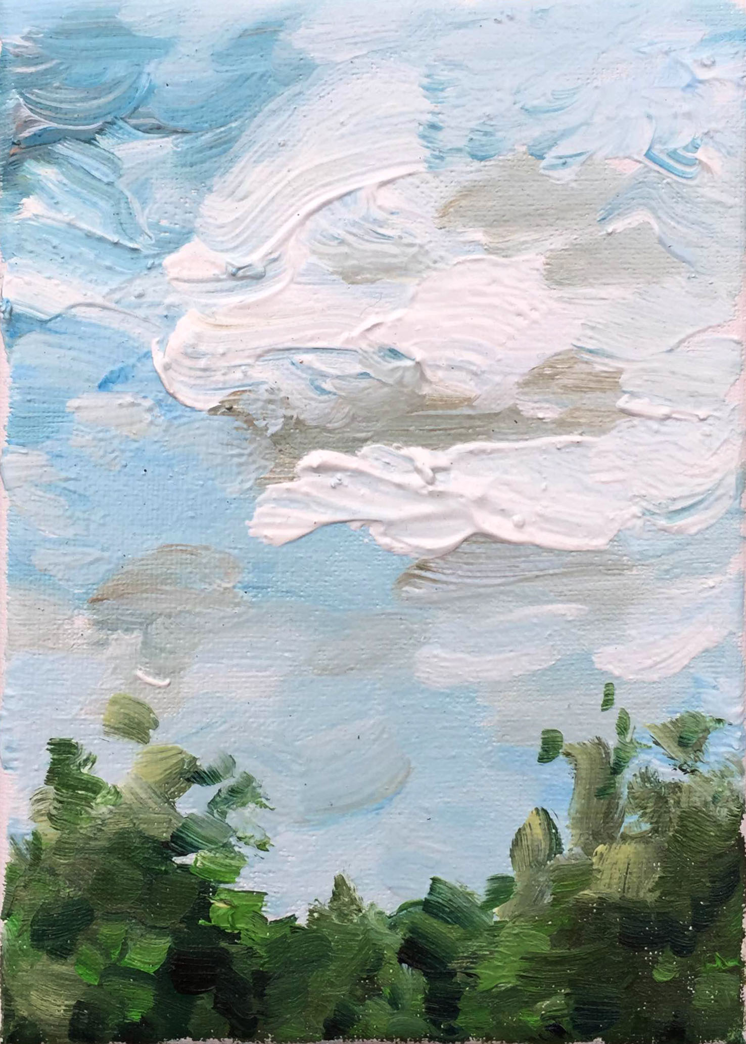 Oil painting skyscape nature
