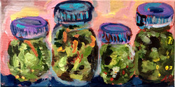 pickle jars painting