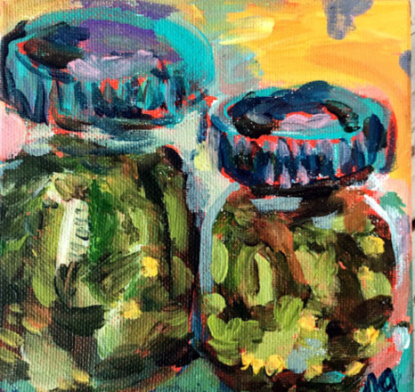 two pickle jar painting