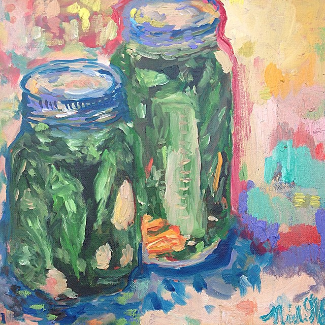 Pickle Duet- Oil On Canvas