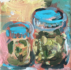 Pickle Jar Duo Painting