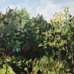 Nature forest painting acrylic