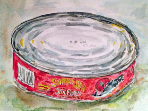 Day 2 of 30 paintings in 30 days- a pantry raid and a repurposed to do list