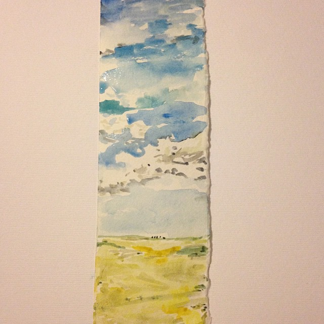 A little watercolor slice of sky- this one is day 13!