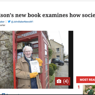 Tony Wilson and his book The Wheels of Society in The Wiltshire Times!