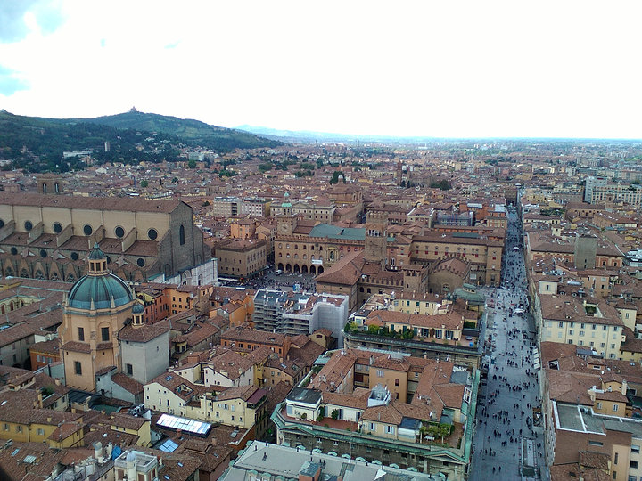 View of Bologna from the Asinelli Tower - Julie Irigaray's own work