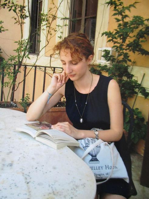Reading Keats at the Keats-Shelley House, Rome