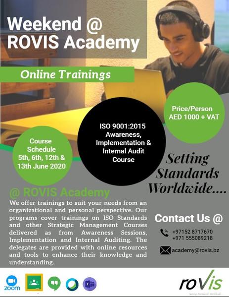 Weekend @ ROVIS Academy