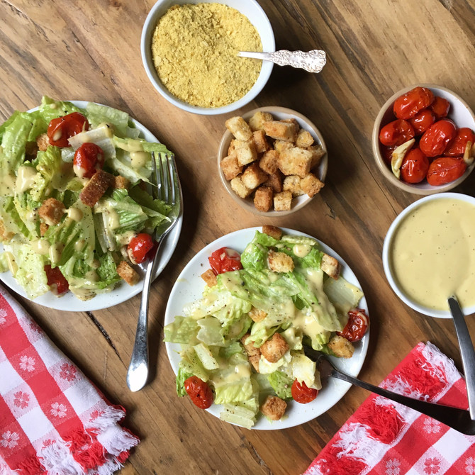 The Best Caesar Salad Dressing Recipe (that is also Dairy-Free)