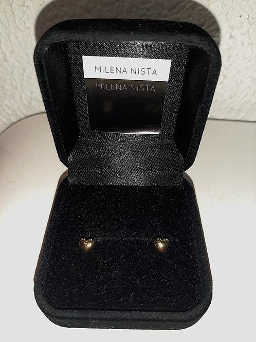 Brinco de Ouro 18k em formato Coração - Milena Nista