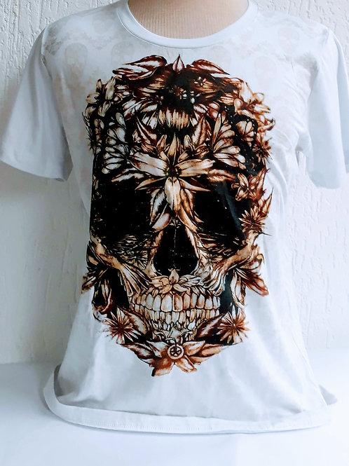 Camiseta Masculina Caveira - Raposa Clothing