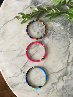 Lot de bracelets wax