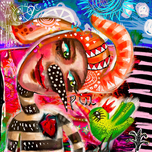 "Giclée Print ""Segredo Colorido"""