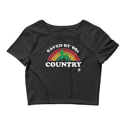 Saved By 90's Country Crop Top