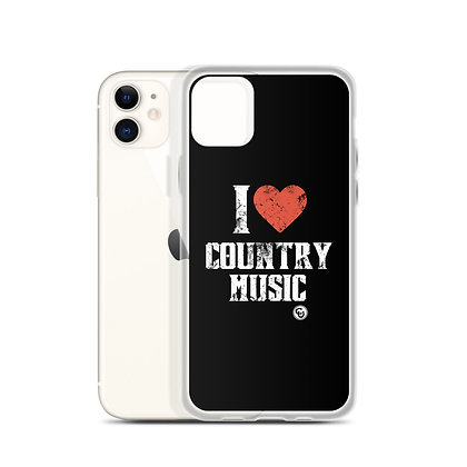 I Love Country Music iPhone Case