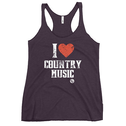 I Heart Country Music Women's Racerback Tank