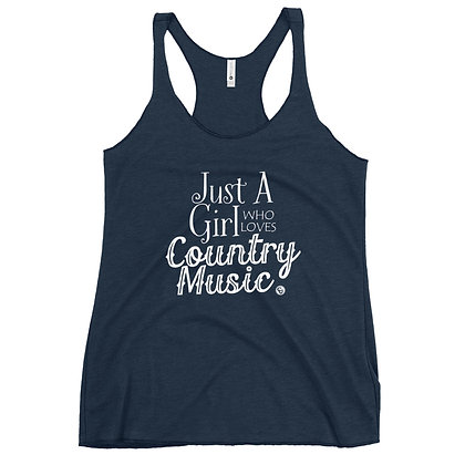 Just a Girl Who Loves Country Music Women's Racerback Tank