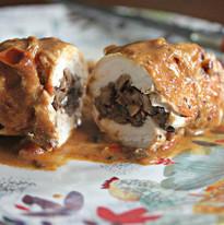 Chicken Kiev filled with Mushroom Duxel