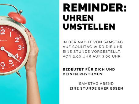Kann Dein Körper sich auch so einfach auf die Sommerzeit umstellen wie Deine Uhr? ⏰