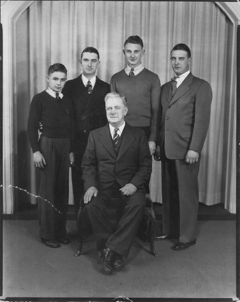 Fred Hoag and his boys