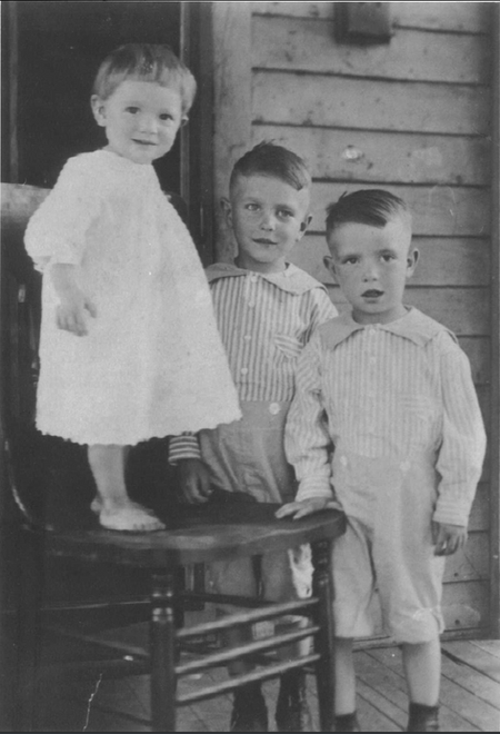 Mike Hoag as a boy in Missouri. (boy on the right)