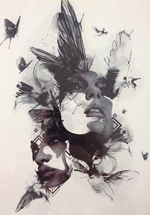 Tatouage éphémère Femmes Butterflies 15*21