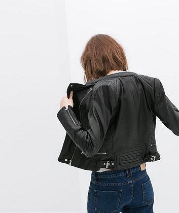 Veste PU cuir Matelassée Morgan zara 2019 festigals promos soldes mode femme pas cher