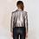 Perfecto Court Cuir Métallisé veste en cuir silver leather jacket