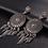 Boucles d'Oreilles Argentées Dreamcatcher ETHNIC EARRINGS