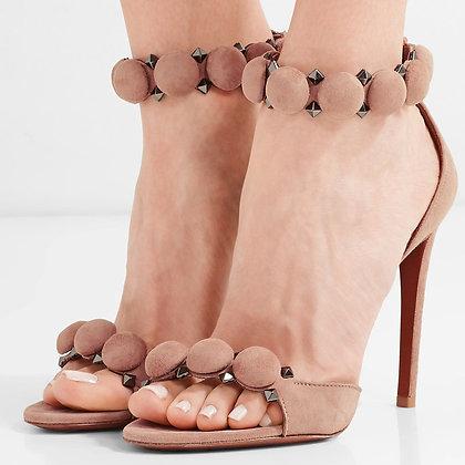 Escarpins Cloutés PU Cuir Pumps Sexy High Heels Melissandre