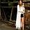 Kimono Blanc Franges Bohème Dentelle Coachella Beach Blouse Leony 100cm
